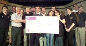 Presentation of cheque to Group Eight by Councillor Clake